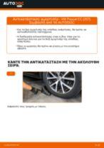 Πώς να αλλάξετε αμορτισέρ πίσω σε VW Passat CC (357) - Οδηγίες αντικατάστασης