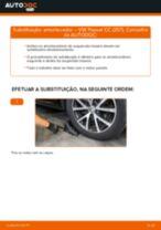 Como mudar amortecedores da parte traseira em VW Passat CC (357) - guia de substituição