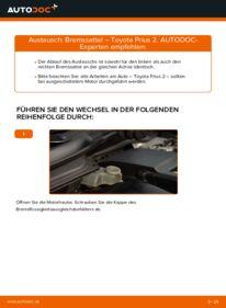 Wie der Wechsel durchführt wird: Bremssattel 1.5 (NHW2_) Toyota Prius 2 tauschen