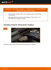 Kaip atlikti keitimą: 1.5 (NHW2_) Toyota Prius 2 Stabdžių apkaba