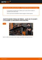 Come cambiare è regolare Pinza freno a disco AUDI A6: pdf tutorial