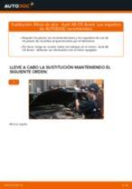 Cómo cambiar: filtros de aire - Audi A6 C5 Avant | Guía de sustitución