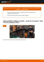 DIY manual on replacing AUDI 200 1990 Brake Calipers