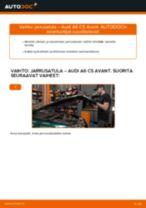 Kuinka vaihtaa jarrusatula taakse Audi A6 C5 Avant-autoon – vaihto-ohje
