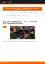 Cum se înlocuiesc și se ajustează Etrier frana AUDI A6: manual pdf