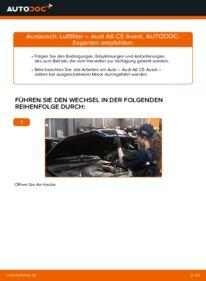 Wie der Wechsel durchführt wird: Luftfilter 2.5 TDI quattro Audi A6 C5 Avant tauschen
