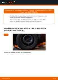 Wie der Wechsel durchführt wird: Querlenker 1.3 Mitsubishi Colt Z30 tauschen