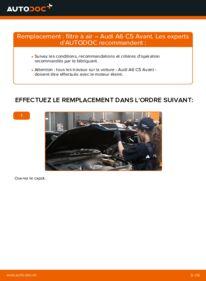 Comment effectuer un remplacement de Filtre à Air sur 2.5 TDI quattro Audi A6 C5 Avant