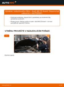 Jak provést výměnu: Vzduchovy filtr na 2.5 TDI quattro Audi A6 C5 Avant