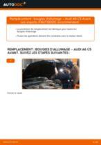 Notre guide PDF gratuit vous aidera à résoudre vos problèmes de AUDI Audi A4 B6 Avant 2.5 TDI quattro Amortisseurs