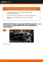 Πώς να αλλάξετε λαδια και φιλτρα λαδιου σε Audi A4 B5 sedan - Οδηγίες αντικατάστασης