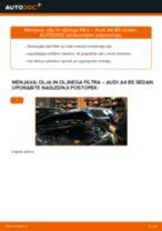 Kako zamenjati avtodel motorna olja in filter na avtu Audi A4 B5 sedan – vodnik menjave