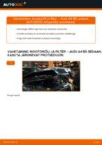 Kuidas vahetada Audi A4 B5 sedaan mootoriõli ja filtrit – õpetus