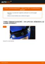 Üzemanyagszűrő-csere VW Lupo 6X1 dízel gépkocsin – Útmutató