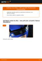 Kaip pakeisti VW Lupo 6X1 dyzelis kuro filtro - keitimo instrukcija