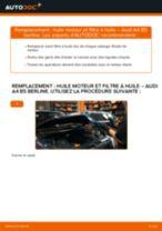 Comment changer : huile moteur et filtre huile sur Audi A4 B5 berline - Guide de remplacement