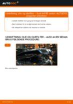 Udskift motorolie og filter - Audi A4 B5 sedan   Brugeranvisning
