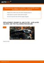 PDF replacement tutorial: Oil filter AUDI A4 Saloon (8D2, B5)