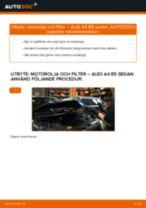 Byta motorolja och filter på Audi A4 B5 sedan – utbytesguide