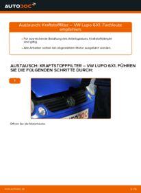 Wie der Wechsel durchführt wird: Kraftstofffilter 1.2 TDI 3L Lupo 3L tauschen