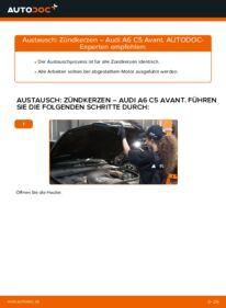 Wie der Wechsel durchführt wird: Zündkerzen 2.5 TDI quattro Audi A6 C5 Avant tauschen
