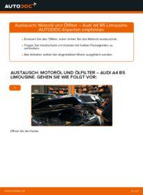 Wie der Wechsel durchführt wird: Ölfilter 1.6 Audi A4 B5 tauschen