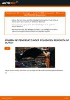 Wie Audi A4 B5 Limousine Bremsbeläge hinten wechseln - Anleitung