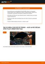 Cum să schimbați: discuri de frână din spate la Audi A4 B5 sedan   Ghid de înlocuire
