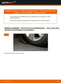 Comment effectuer un remplacement de Rotule de Suspension sur 1.2 TDI 3L VW Lupo 6x1