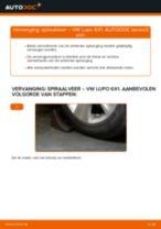 Veren vervangen VW LUPO: werkplaatshandboek