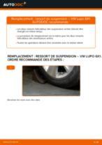 Comment changer et régler Ressort d'amortisseur VW LUPO : tutoriel pdf