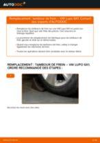 Quand changer Tambours De Frein VW LUPO (6X1, 6E1) : manuel pdf