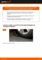 Cómo cambiar: copelas del amortiguador de la parte delantera - VW Lupo 6X1 | Guía de sustitución
