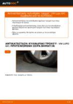 Αλλαγη Κυλινδράκια τροχών: pdf οδηγίες για VW LUPO