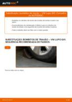 Recomendações do mecânico de automóveis sobre a substituição de VW Polo 9n 1.2 12V Pinças de Travão