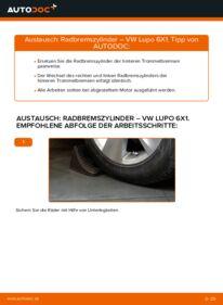 Wie der Wechsel durchführt wird: Radbremszylinder 1.2 TDI 3L Lupo 3L tauschen