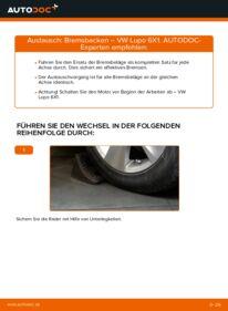 Wie der Wechsel durchführt wird: Bremsbacken 1.2 TDI 3L Lupo 3L tauschen