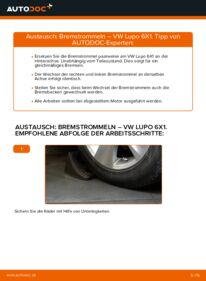 Wie der Wechsel durchführt wird: Bremstrommel 1.2 TDI 3L Lupo 3L tauschen