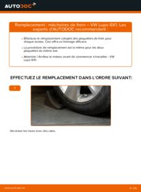 Comment effectuer un remplacement de Mâchoires De Frein sur 1.2 TDI 3L VW Lupo 6x1