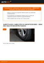 Como mudar cabeçotes do amortecedores da parte dianteira em BMW E60 - guia de substituição