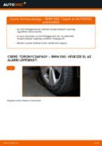 Elülső toronycsapágy-csere BMW E60 gépkocsin – Útmutató