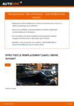 Comment changer : filtre d'habitacle sur Audi A4 B5 berline - Guide de remplacement