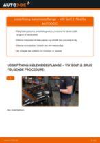 Automekaniker anbefalinger for udskiftning af VW Golf 4 1.6 Kileribberem