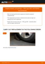 Changing Springs VW LUPO: workshop manual