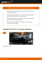 Byta kupéfilter på Audi A4 B5 sedan – utbytesguide