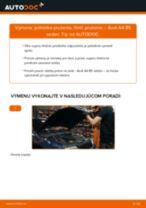 AUDI Tlmiče perovania zadné a predné vymeniť vlastnými rukami - online návody pdf