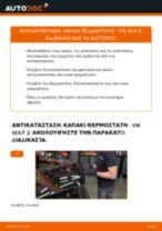 Πώς να αλλάξετε καπακι θερμοστατη σε VW Golf 2 - Οδηγίες αντικατάστασης