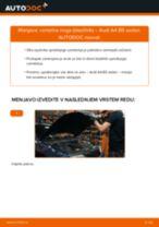 Menjava zadaj in spredaj Blažilnik AUDI naredi sam - navodila pdf na spletu
