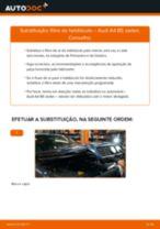 Como mudar filtro habitáculo em Audi A4 B5 sedan - guia de substituição