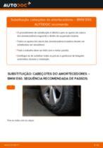Como mudar cabeçotes do amortecedores da parte traseira em BMW E60 - guia de substituição